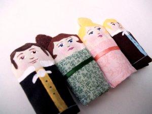 HenAndChick Finger puppets Etsy
