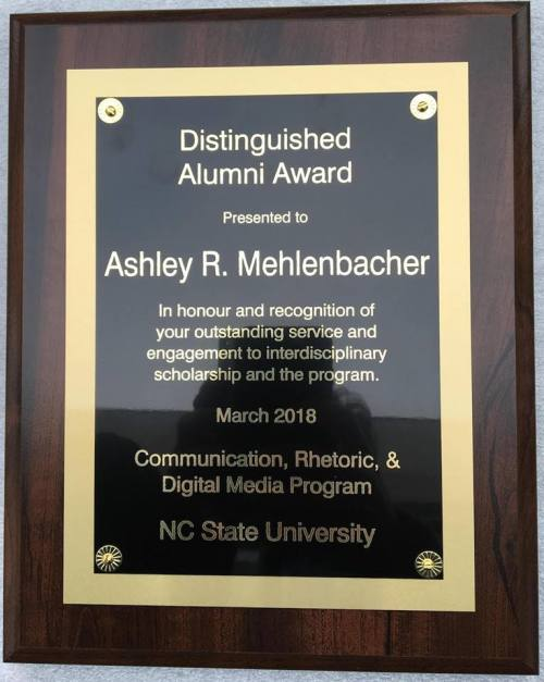 A blog about the department of english language literature at the spring awards announcements continue with news that dr ashley mehlenbacher has won the 2018 distinguished alumni award from the communication spiritdancerdesigns Images